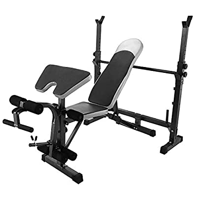 ALTERDJ Heavy Duty Multi Foldind Weights Training Bench Gym Shoulder Chest Press Sit Up Barbell Fitness Full Body Workout Adjustable Exercise Equipment by ALTERDJ