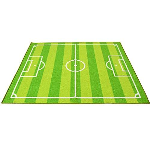 Ljf Rechteckiger Fußballplatzteppich Rutschfester waschbarer Teppichboden Wohnzimmer Umweltfreundlicher Teppich Kinderzimmerteppich (Color : 133 * 180CM)