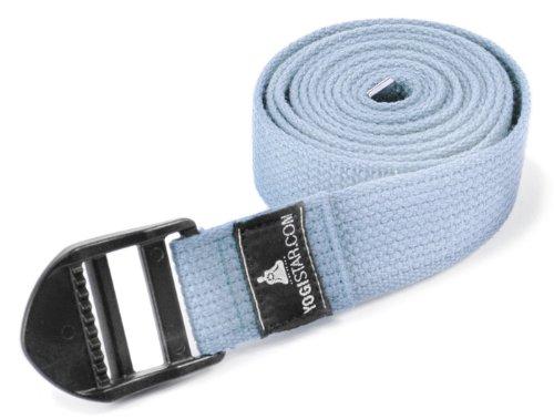 Yogistar-Cintura da Yoga, 260 cm, chiusura in plastica, Colore Blu Chiaro(Hellblau)