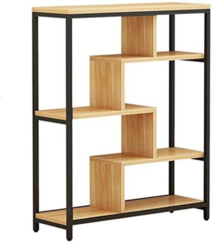 Xx101 Bookshelf Modern Minimalist Bookcase Display Flower Stand Stand Foot Footchase Pantalla Pantalla Marco Abrir Muebles Económicos Y Ecológicos Nixx0 (Color : Black, Size : 100X29X130cm)