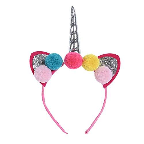 Qinlee Bandeau a Cheveux d'oreille de Licorne Serre-Tête Oreilles pour Fête et Décoration Quotidien de Partie Accessoire Cheveux Femme Déguisements 28