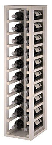 Expovinalia Ew2032 Weinregal aus Kiefernholz mit Platz für 20 Flaschen, Holz, Weiß