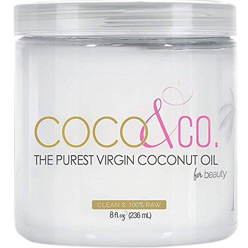 Coco &Amp; Co. Organic Pure Extra Virgin Coconut Oil For Hair &Amp; Skin, Beauty Grade, 8 Fl Oz (Pack Of 1)