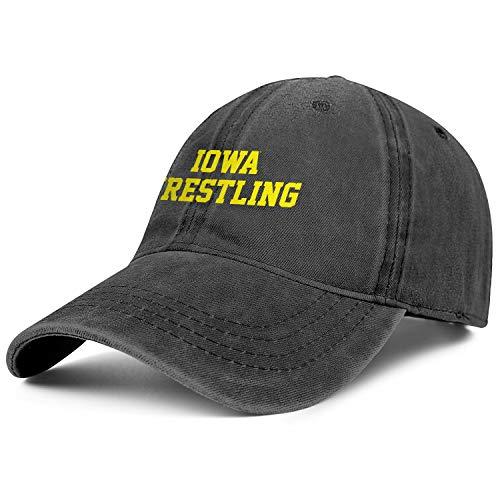 Demvemin Unisex Iowa Wrestling Adjustable Baseball Cap Vintage Dad Hat
