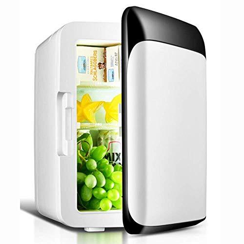 GUOCAO Refrigerador del Coche 8L Negro Nevera/Mini refrigerador de una Puerta/pequeño refrigerador Casa / 12V / 220V pequeño refrigerador doméstico (Color: Blanco) Refrigeradores