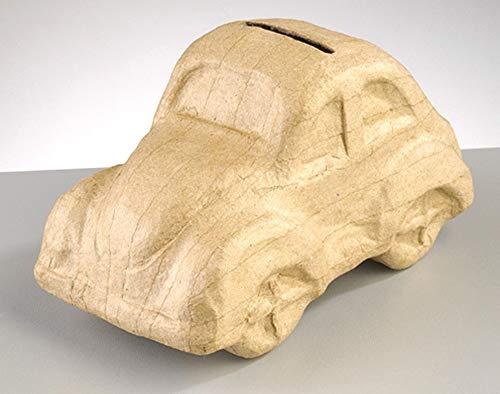 Pappmaché Auto-Spardose, Zum Dekorieren von 16,5 X 8,5 X 9 Cm-Pappmaché Boxen