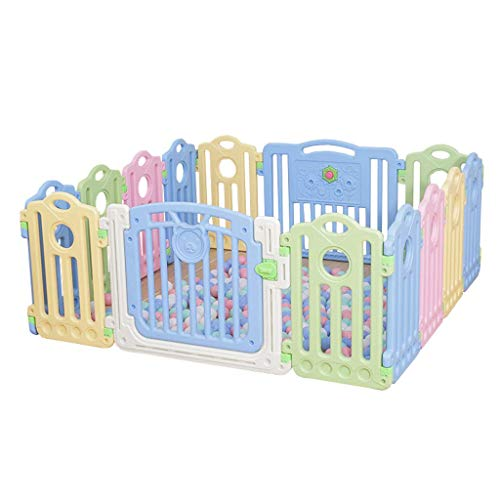 ZXRET Baby Play Fence Enfants Play Fence Baby Safety Porte Porte bébé Sécurité Barrière Protector Enfants Porte en Plastique Et Jouet