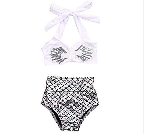 Baby Girls Bikini Set Swimwear Swimsuit Bathing 2Pcs Top+Shorts Pants Swimmable Costumes Beachwear (6-12 Months)