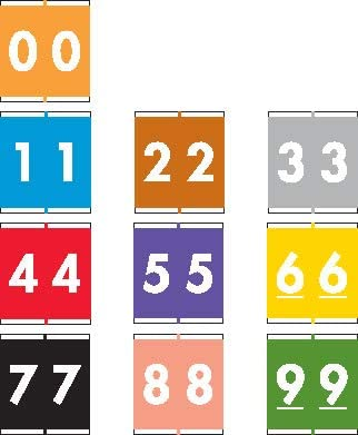 Max 51% OFF Barkley NSFM Compatible Numeric Labels 16 Ranking TOP1 Laminated 1-11 Stock