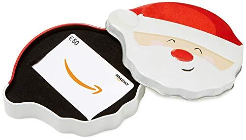 Carte cadeau Amazon.fr - €50 - Dans un coffret Père Noël Tout Sourire