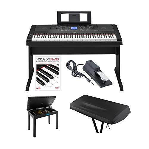 Yamaha DGX660B Digital Piano w/Knox Piano Bench