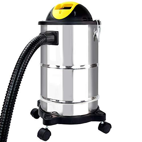 Syntrox Germany 1600 Watt Edelstahl 18-20 Liter Aschesauger mit Motor Feinstaubsauger Aschestaubsauger