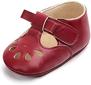 Baby Products Princess Baby Girl Anti Slip Hollow Out First Walkers PU Leather Shoes, Shoe Size:11cm(Pink) Baby Products (...