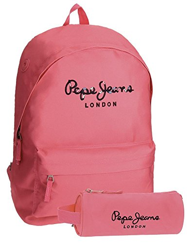 Pepe Jeans 6682357 Harlow Mochila Escolar, 42 cm, 22.79 litros, Rosa