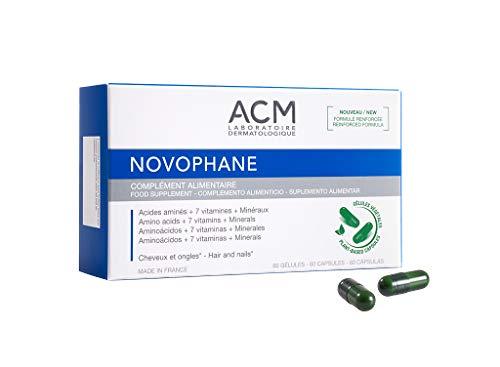 NOVOPHANE - Capsule contro la perdita dei capelli, l'alopecia e la fragilità delle unghie, 60 capsule