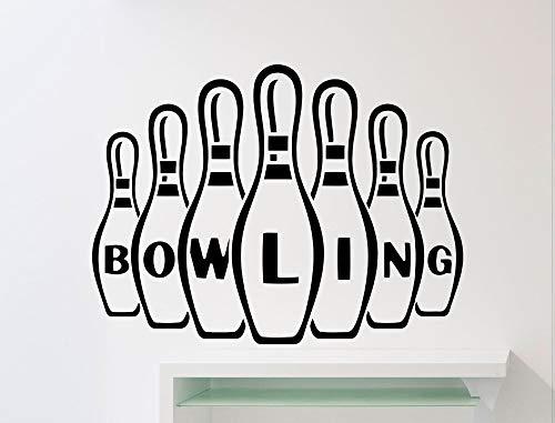 42 * 56 cm Spezielle Design Bowling Wandtattoo Zeichen Muster Innen Sport Wandaufkleber Vinyl Bowling Ball Club Abnehmbare Logo Decor