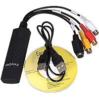 Losenlli USB 2.0 Adaptador de Captura de Audio VHS VCR Convertidor de TV a DVD Dispositivo de grabación de Grabber de Video Digital para PC con Windows
