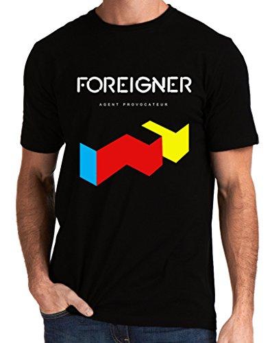 Foreigner Band Music Agent Provocateur Logo Men's T-Shirt Medium Black
