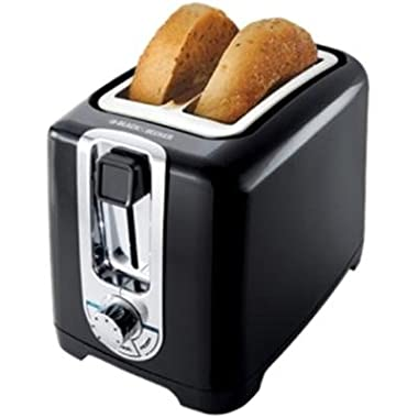 Black & Decker Black 2-Slice Cool Touch Toaster