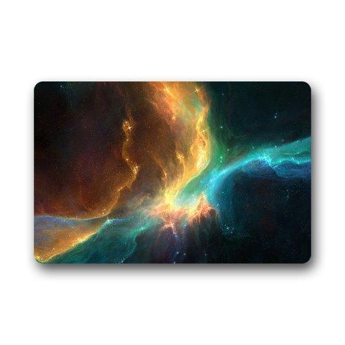 DLing Paillasson 16 x 24,40cm x 60cm de Tapis d'intérieur/extérieur de Tapis de Bienvenue de Logo de Logo d'espace coloré Fait sur Commande