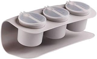 WZHZJ Pot d'assaisonnement conteneur salière Poivre assaisonnement boîte salière assaisonnement Pot boîte de Rangement Acc...