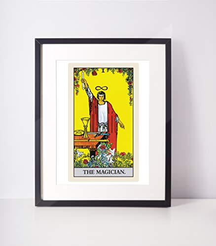 The Magician Tarot Print/Tarot Card Art/Major Arcana/Tarot Wall Hanging/Rider Waite Tarot