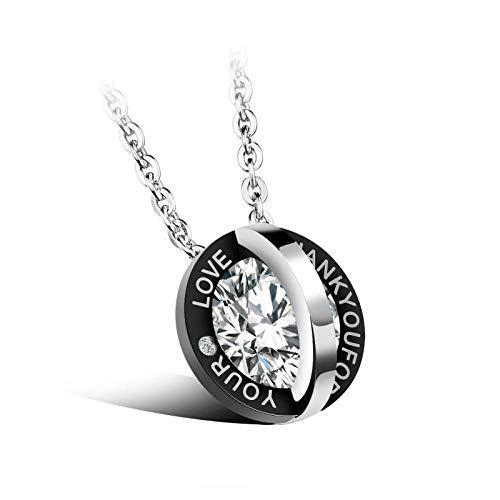 Halskette Paar Halsketten Mode Strass Kristall Zirkon Anhänger Halskette FrauenMetallkette Halskette Schmuck Kragen Collier Männer