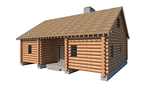 IE Log Cabin House with Loft Plans 5 Bedroom DIY Cottage 1365 sqft Build Your Own