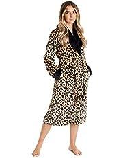 CityComfort Badjas Dames - Luxe pluizige damesbadjas in superzachte fleece dierenprint of grijs voor vrouwen, cadeaus voor mama