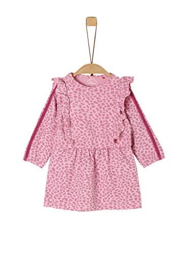 s.Oliver Unisex - Baby Kleid mit Rüschen-Details rose AOP 74