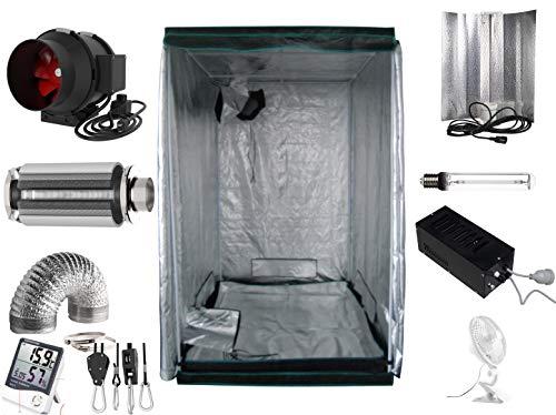 Generic Growbox Komplettset 600 W NDL Eco 120 x 120 x 200 cm AKF 590m³/h(600 Watt mit AKF)