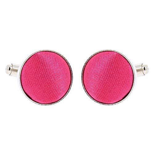 Boutons de Manchette Rose fushia pour Homme - Accessoire Poignet Chemise et Veste de Costume - Mariage, Cérémonie