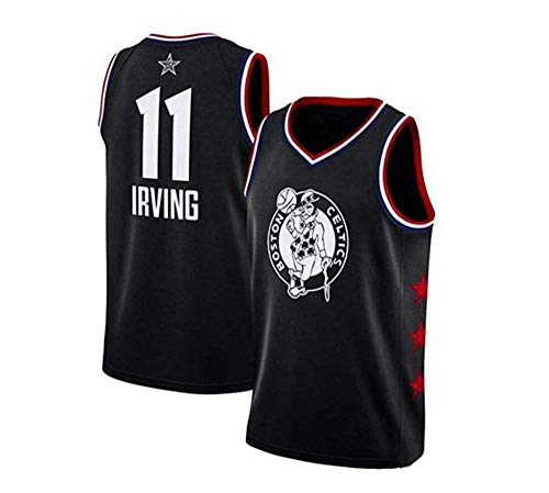 NBA NBA T-Shirts 11# Celtic Kyrie Irving Frauen-Sternspieler, Atmungsaktives Und Klassisches ärmelloses Gewebe, Basketball-T-Shirt Für Männer Und Frauen,Black-M