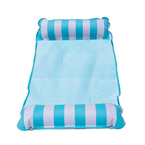 Dequate Wasserlounge Schwimmsessel - Luftmatratze - Falten Aqua Lounge, Aufblasbarer Wasserhängematte, Luftmatratze Pool, Schwimmender Liegestuhl, 132 X 70cm
