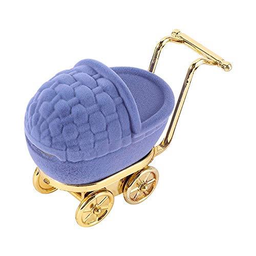 N\C 1 elegante caja de terciopelo para anillos de cochecito, organizador de joyas, caja de almacenamiento para aparatos.