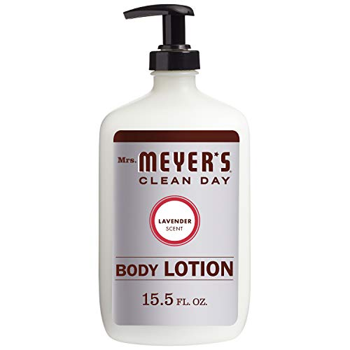 Mrs. Meyer's Clean Day Body Lotion, Long-Lasting, Non-Greasy Moisturizer, Cruelty Free Formula, Lavender Scent, 15.5 oz