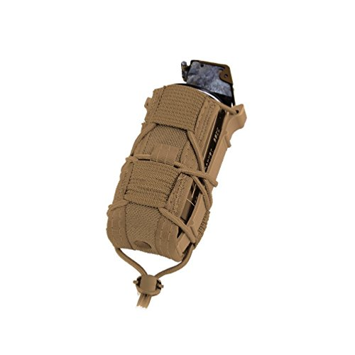 High Speed Gear Single Pistol Taco Mag Pouch | Universal Pistol Magazine Holster | Rapid Response and MOLLE Compatible (Coyote, 2 Pack)