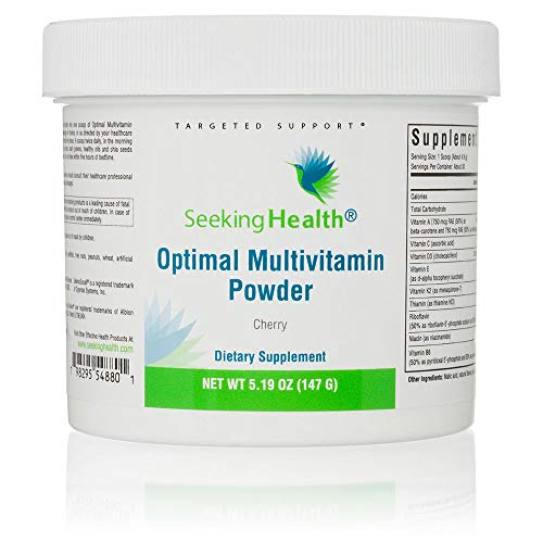 Seeking Health | Optimal Multivitamin Powder | 30 Servings | Vegetarian | Natural Cherry Flavor | Provides Potent Bio-available Nutrients for Immunity, Digestion, Energy, Antioxidant Support