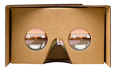 Google Cardboard viewer Wearable for Android 4.1 or Higher, or iOS 8.0 or Higher - Brown