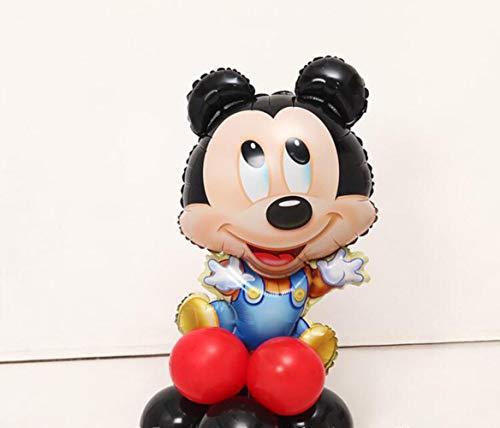 LASISZ Palloncini In Stagnola Rossa Numero 1 Decorazioni Per Feste Di Compleanno Giocattolo Per Bambini Baby Shower Lattice Nero, Topolino