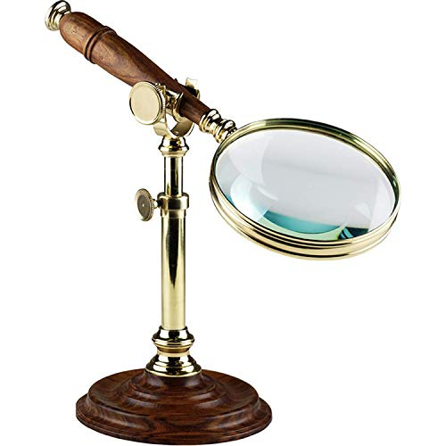 Authentic Models, Magnifying Glass with Stand, Glass Magnifying Instruments - Bronze/Distressed French Finish