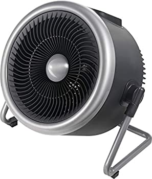 PELONIS Portable 2 in 1 Vortex Heater with Air Circulation Fan and Wide Tilting Angle Stand Quiet Cooling & Heating Mode Tip Over & Overheat Protection,for Home Office Personal Use Black