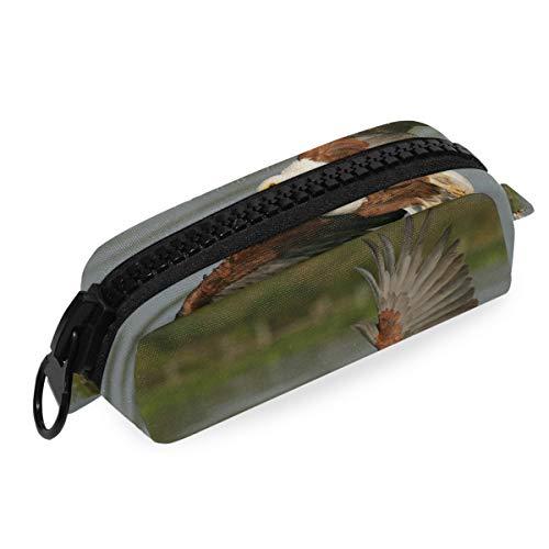 Tasche Federmäppchen Beutel Afrikanischer Fisch Vogel Fliege Büro Große Reißverschlusstasche Stift Schule