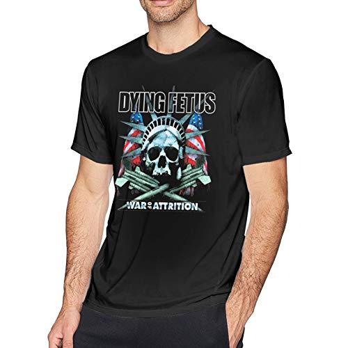 Custom Fun Guys Men T Shirts 3D Print Comfy Crewneck Short Sleeve Dying Fetus War of Attrition Shirt for Men,Tee Shirt Tops Black