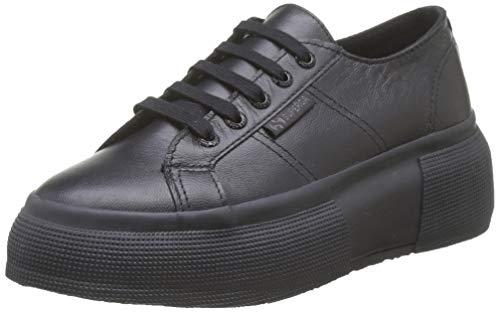 SUPERGA 2287-LEANAPPAW, Sneaker Donna, Nero (Total Black F90), 39 EU