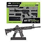 GoatGuns Miniature AR15 Model Toy Black | 1:3 Scale Die Cast Metal Build Kit