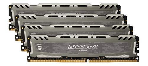 Crucial Ballistix Sport LT BLS4K8G4D30BESBK 3000 MHz, DDR4, DRAM, Desktop Gaming Speicher Kit, 32GB (8GB x4), CL16 (Grau)