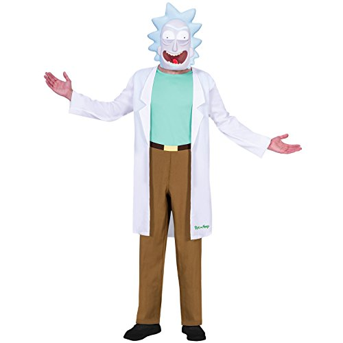 Amscan 9904216 Rick Costume 14-16 Years, White