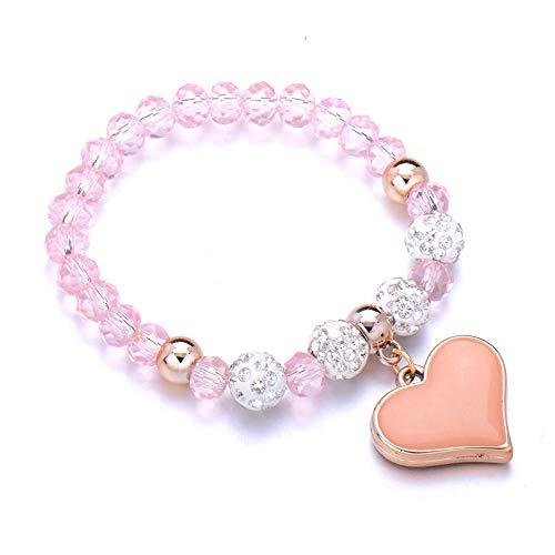 Jewellery Bracelets Bangle For Womens Charm Stone Bracelet Matte Beaded Bracelets Handmade Men Women Chain Couple Jewelry-Pink