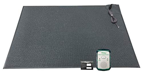 Wireless Economy Quiet Fall Alert with 24in x 36in Floor Mat and Caregiver Pager - Know When They get up!